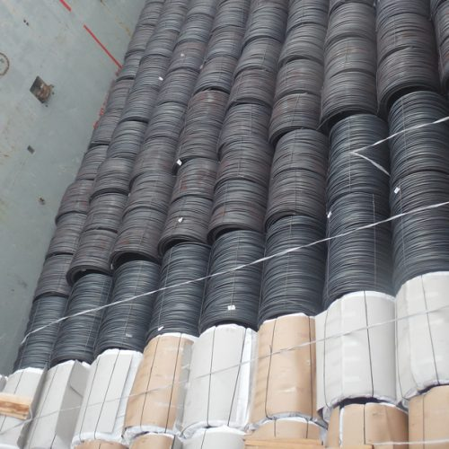 Loading of wire rods in coils